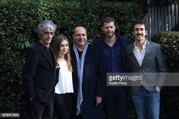 Cast during photocall of Italian fiction 'Il Mio Vicino del Piano di Sopra' which is part of the TV movie cycle 'Purchè Finisca Bene 2' produced by...