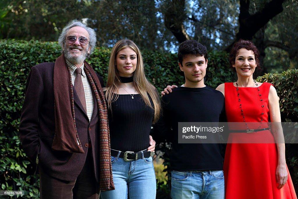 cast during photocall of italian fiction 'mia moglie, mia