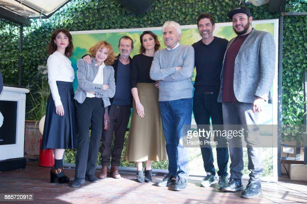 Cast during Photocall of the Italian film 'Il Premio' directed by Alessandro Gassmann at the Hotel Bernini Bristol in Rome