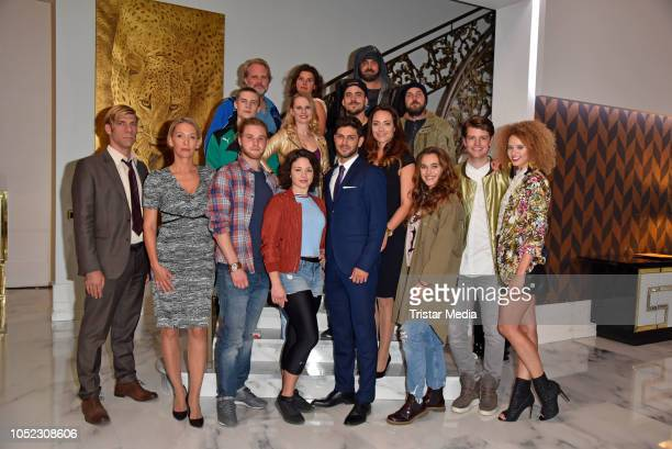 Cast during the new Sat1 daily tv series 'Alles oder Nichts' photo call on October 15 2018 in Berlin Germany