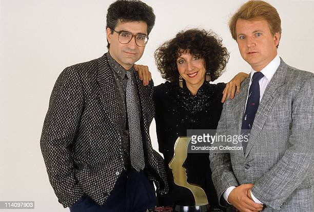 SCTV cast Eugene Levy Andrea Martin and Dave Thomas pose for a portrait in c1980 in Los Angeles California