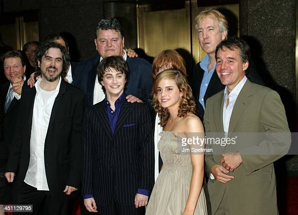Cast from Harry Potter and the Prisoner of Azkaban{clockwise} Alfonso Cuaron Director Robbie Coltrane Rupert Grint Alan Rickman Chris Columbus...