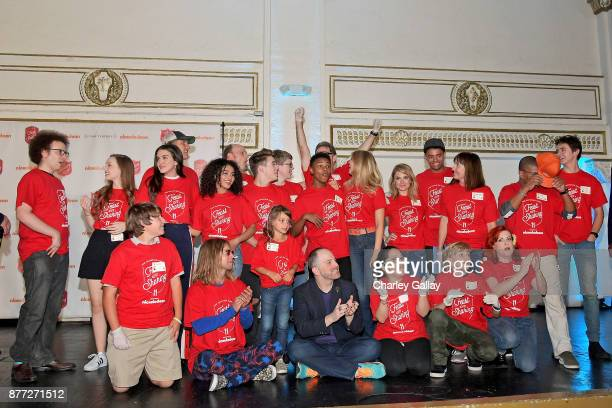 Cast from Nickelodeon's Live Action and Animated Series attend The Salvation Army Feast of Sharing presented by Nickelodeon at Casa Vertigo on...