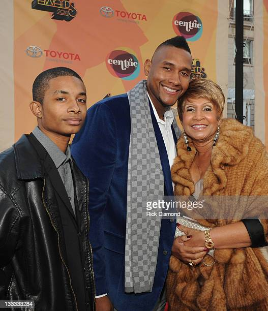Cast from OWN's Welcome to Sweetie Pie's Lil Charles Tim Norman and Miss Robbie Montgomery attend the Soul Train Awards 2011 at The Fox Theatre on...
