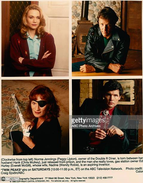 Cast Gallery Composites - Create Date: August 29, 1990. CLOCKWISE : PEGGY LIPTON;CHRIS MULKEY;EVERETT MCGILL;WENDY ROBIE