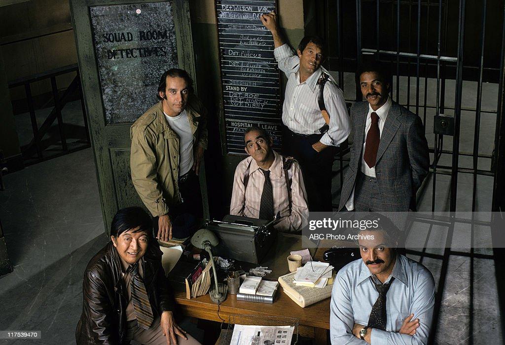 JACK SOO;GREGORY SIERRA;ABE VIGODA;MAX GAIL;RON GLASS;HAL LINDEN : News Photo