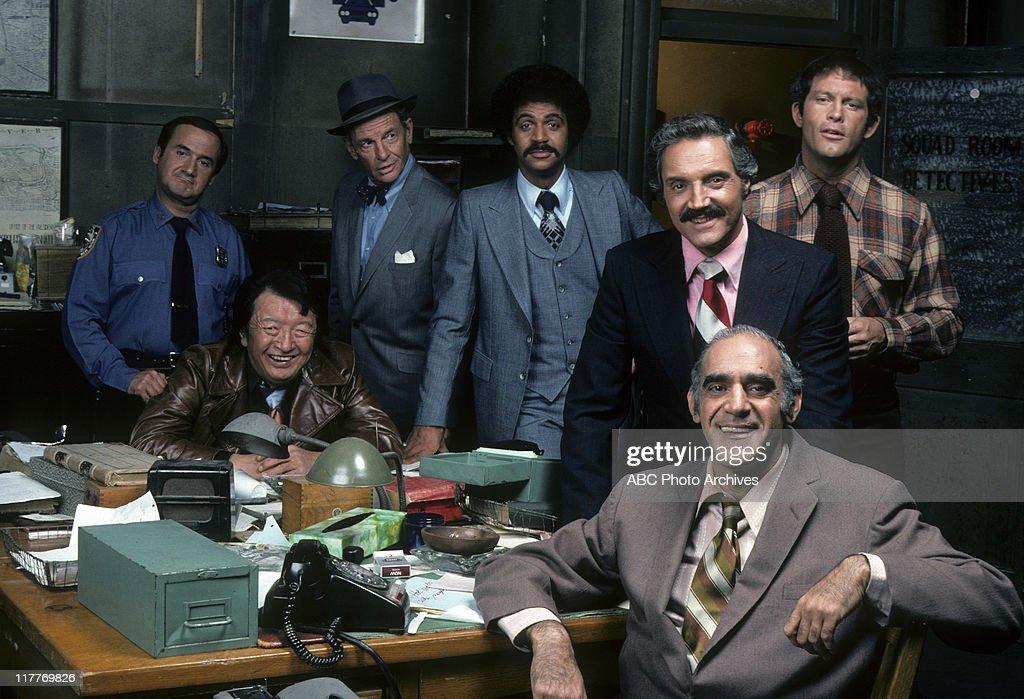 RON CAREY;JACK SOO;JAMES GREGORY;RON GLASS;ABE VIGODA;HAL LINDEN;MAX GAIL : News Photo
