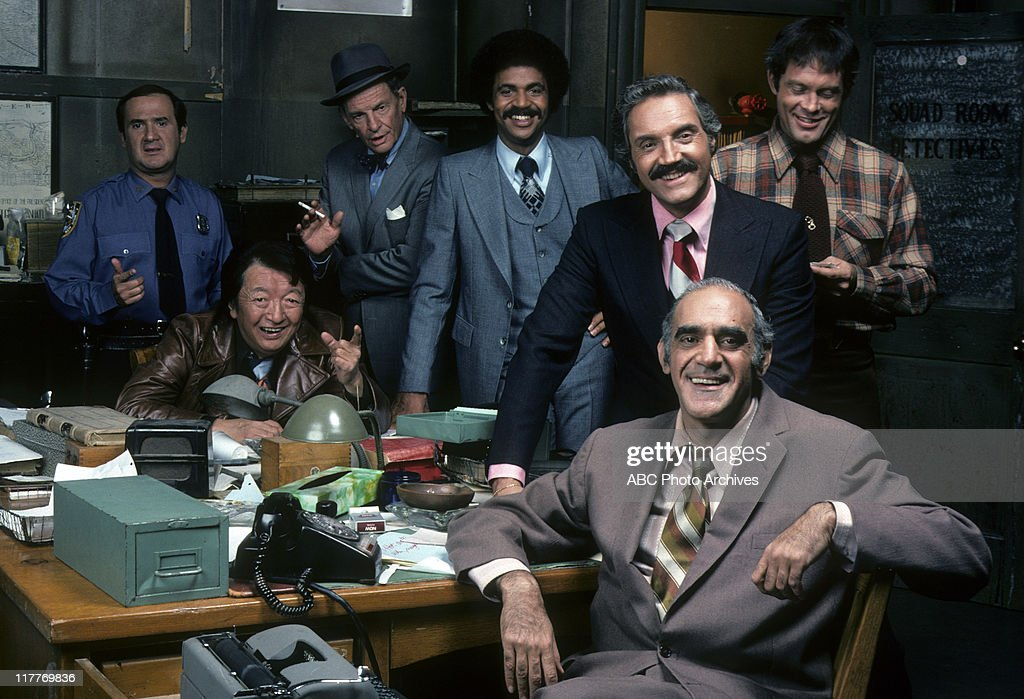 RON CAREY;JACK SOO;JAMES GREGORY;RON GLASS;ABE VIGODA;HAL LINDEN;MAX GAIL : News Photo