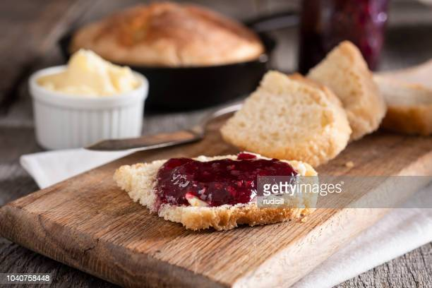 cast iron bread - jam stock pictures, royalty-free photos & images
