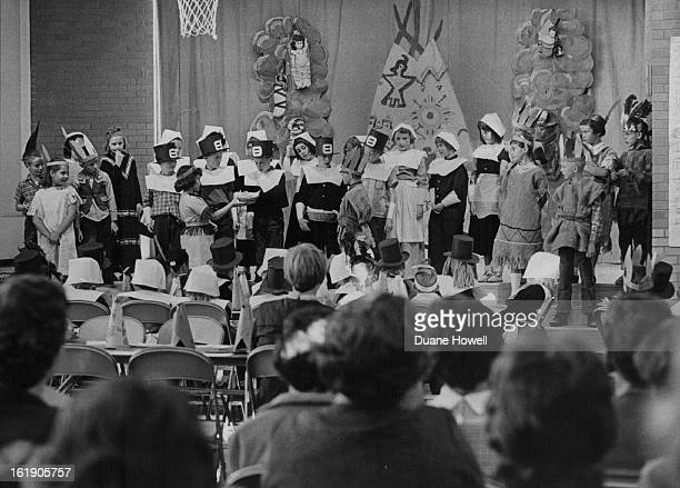 NOV 26 1963 DEC 4 1963 Cast Is On Stage For Terry School First Thanksgiving Skit Contribution of American Indians to early settlers is depicted as...