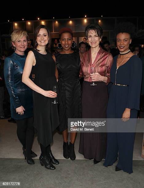 Cast , Jackie Cune, Clare Dunne, Jade Anouka, Harriet Walter and Leah Harvey attend the press night of The Donmar's Shakespeare Trilogy at the new...