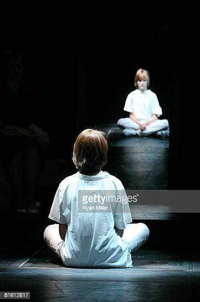 Cast member actor LJ Benet performs during the dress rehearsal of The Who's 'Tommy' held at the Richardo Montalban Theatre on June 17 2008 in...