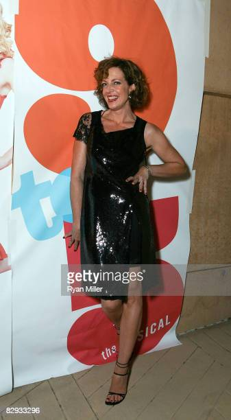 Cast member actress Allison Janney poses during the party for the world premiere of of 9 to 5 The Musical at Center Theatre Group's Ahmanson Theatre...