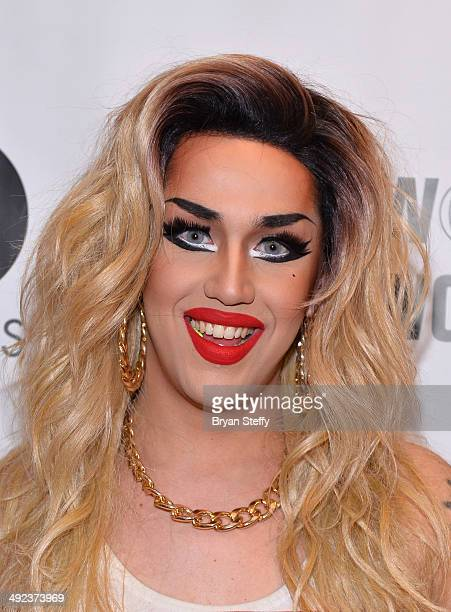 Cast member Adore Delano arrives at a viewing party for the season six finale of 'RuPaul's Drag Race' at the New Tropicana Las Vegas on May 19 2014...