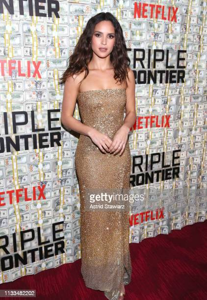 Cast member Adria Arjona attends Netflix World Premiere of TRIPLE FRONTIER at Lincoln Center on March 03 2019 in New York City