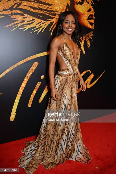 Cast member Adrienne Warren attends the press night after party for Tina The Tina Turner Musical at Somerset House on April 17 2018 in London England
