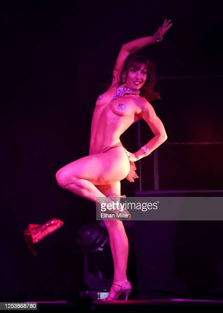 Cast member Agnes Roux dances during a performance of SEXXY The Show at the Dreamland DriveIn Theater and Concert Venue at Fresh Wata Studios to...