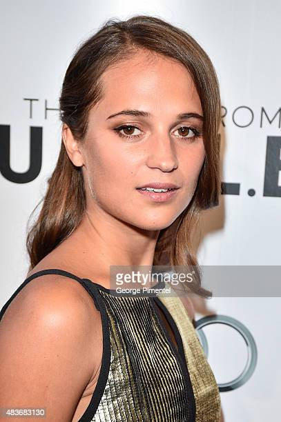 Cast member Alicia Vikander attends the premiere of Warner Bros Pictures' 'The Man From UNCLE' at Scotiabank Theatre on August 11 2015 in Toronto...