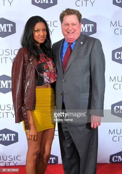 Cast member Alisa Fuller and Guest attend CMT's 'Music City Premiere Party at The Back Corner on February 20 2018 in Nashville Tennessee