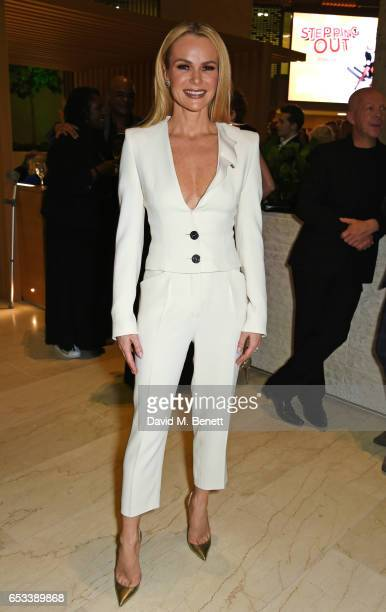 Cast member Amanda Holden attends the press night after party for Stepping Out at the Coutts Bank on March 14 2017 in London England