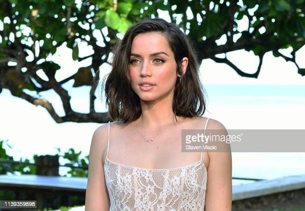 Cast member Ana de Armas attends the Bond 25 film launch at Ian Fleming's home GoldenEye on April 25 2019 in Montego Bay Jamaica