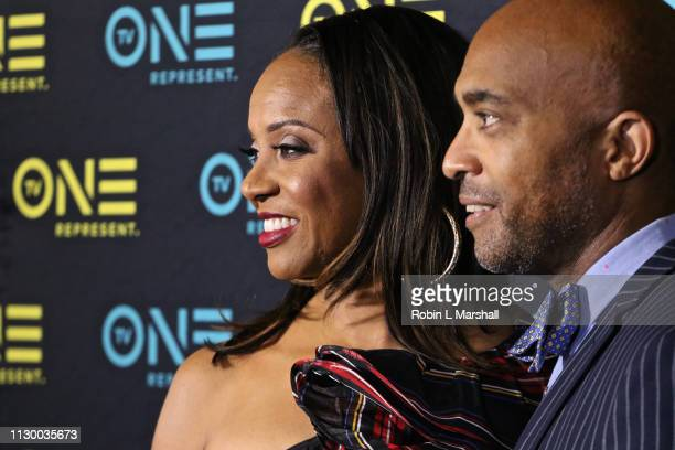 Cast Member and Rapper MC Lyte and Director Lee Davis attend the TV One Premiere Screening of 'Loved To Death' during the Pan African Film Festival...