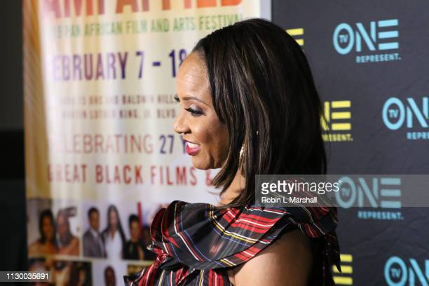 Cast Member and Rapper MC Lyte attends the TV One Premiere Screening of 'Loved To Death' during the Pan African Film Festival at Baldwin Hills...