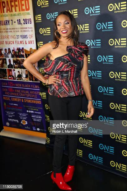 Cast Member and Rapper MC Lyte attends the TV One Premiere Screening of 'Loved To Death' at Baldwin Hills Crenshaw Plaza on February 15 2019 in Los...