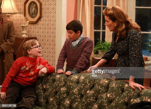 Cast member Andy Walken Sammy Ramirez and Ana Gasteyer during FOXs live musical event A CHRISTMAS STORY LIVE airing Sunday Dec 17 on FOX