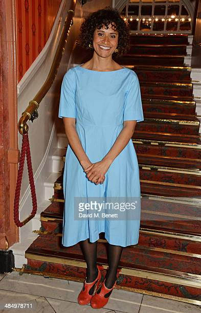 Cast member Angel Coulby attends the press night performance of 'Good People' at the Noel Coward Theatre on April 15 2014 in London England