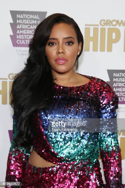 Cast member Angela Simmons attends WE tv's celebration of Growing Up Hip Hop Season 3 at the Smithsonian Institute National Museum of African...