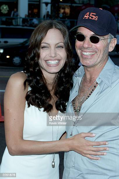 Cast member Angelina Jolie and husband Billy Bob Thornton at the 'Original Sin' premiere held at DGA Theater in Los Angeles CA Tues July 31 2001