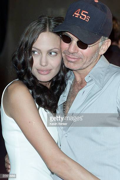 Cast member Angelina Jolie and husband Billy Bob Thornton before the 'Original Sin' premiere held at DGA Theater in Los Angeles CA Tues July 31 2001
