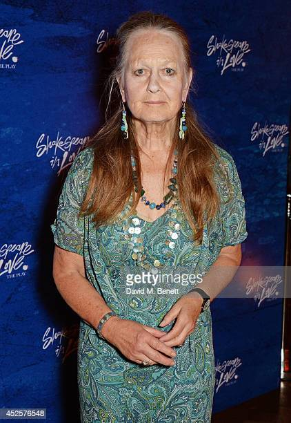 Cast member Anna Carteret attends an after party celebrating the press night performance of Shakespeare In Love at Southwark Cathedral on July 23...