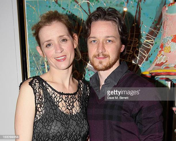 Cast member AnneMarie Duff and husband James McAvoy attend an after party following the press night performance of the Donmar's 'Berenice' at The...
