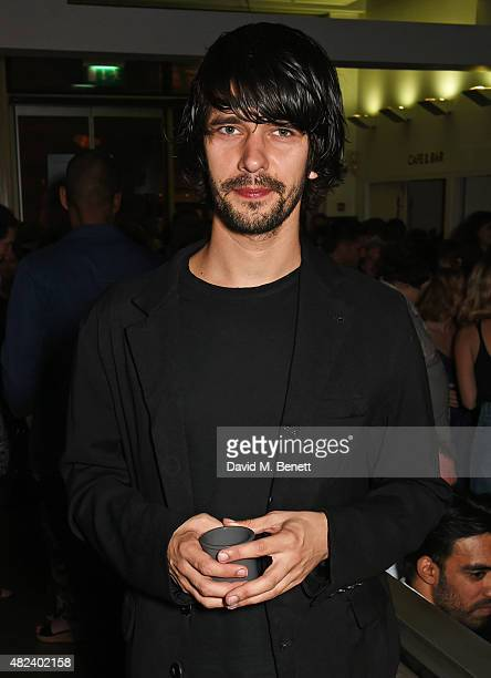 Cast member Ben Whishaw attends an after party following the press night performance of 'Bakkhai' at The Almeida Theatre on July 30 2015 in London...