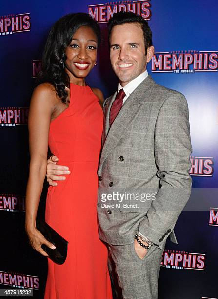Cast member Beverley Knight and husband James O'Keefe attend the press night performance of 'Memphis The Musical' at The Floridita on October 23 2014...