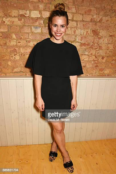 Cast member Billie Piper attends the press night after party for 'Yerma' at The Young Vic on August 4 2016 in London England