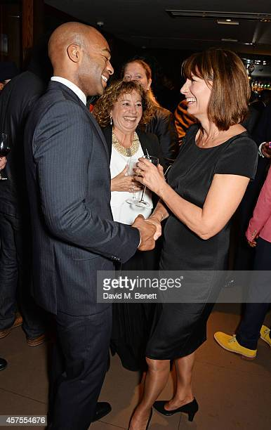Cast member Brandon Victor Dixon and Carole Middleton attend an after party celebrating the press night performance of The Scottsboro Boys at The...