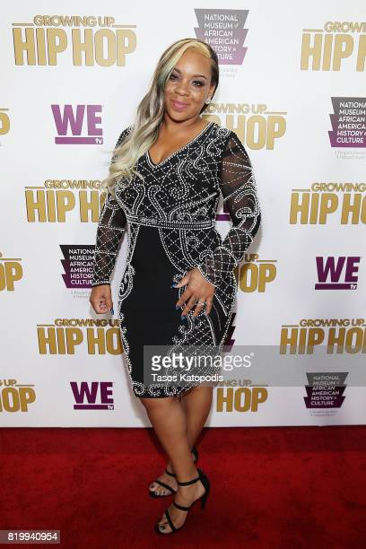 Cast member Briana Latrise attends WE tv's celebration of Growing Up Hip Hop Season 3 at the Smithsonian Institute National Museum of African...