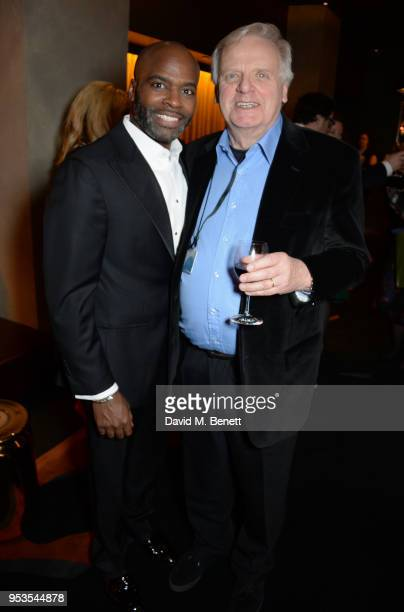 Cast member Cedric Neal and producer Michael Grade attend the press night after party for Chess at St Martins Lane on May 1 2018 in London England