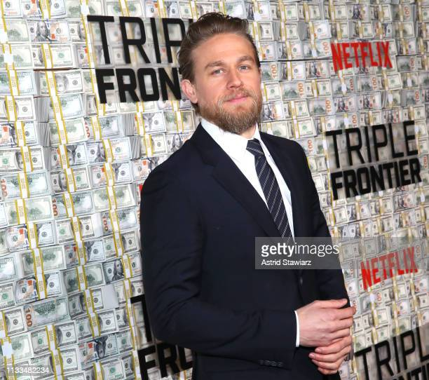 Cast member Charlie Hunnam attends Netflix World Premiere of TRIPLE FRONTIER at Lincoln Center on March 03, 2019 in New York City.