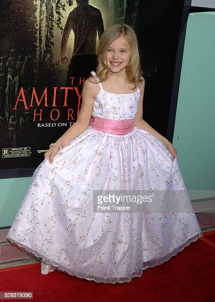 Cast Member Chloe Grace Moretz arrives at the premiere of 'The Amityville Horror' at the Arclight Cinerama Dome