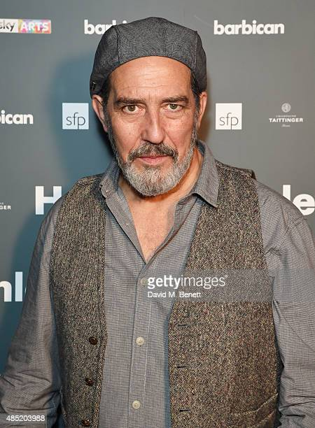 Cast member Ciaran Hinds attends an after party following the press night performance of 'Hamlet' at the Barbican Centre on August 25 2015 in London...