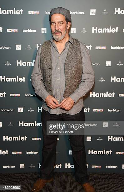 Cast member Ciaran Hinds attends an after party following the press night performance of Hamlet at the Barbican Centre on August 25 2015 in London...