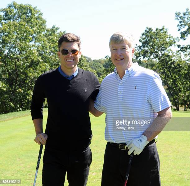 SNL cast member Colin Jost and his father Daniel A Jost attend the 2nd Annual Laughs On The Links Celebrity Golf Tennis Bocce Outing at Richmond...