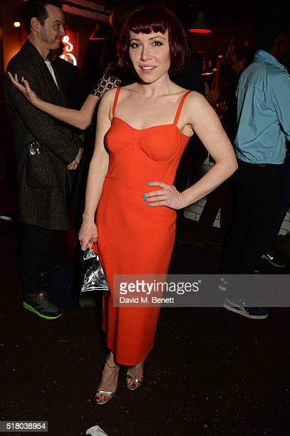 Cast member Daisy Lewis attends the press night performance of 'Bug' at Found111 on March 29 2016 in London England