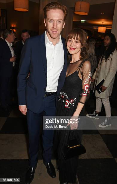 Cast member Damian Lewis and Helen McCrory attend the press night after party for Edward Albee's The Goat Or Who Is Sylvia at Villandry on April 5...