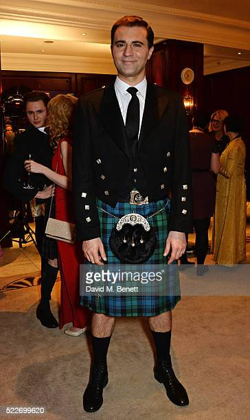 Cast member Darius Campbell attends the press night after party for 'Funny Girl' at The Waldorf Hilton Hotel on April 20 2016 in London England