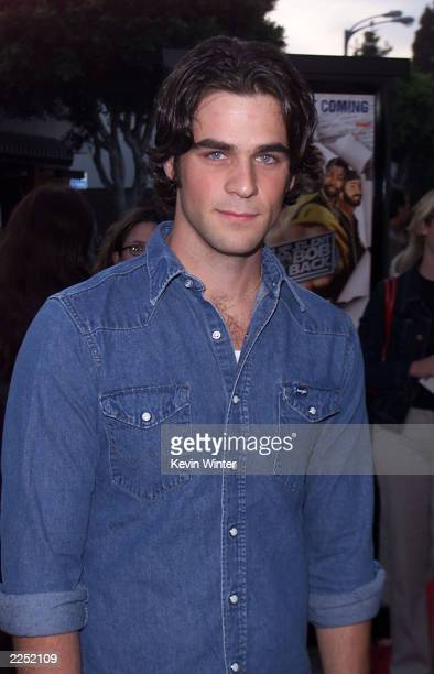 Cast member Eddie Cahill at the premiere of 'Jay and Silent Bob Strike Back' held at the Mann Bruin Theater in Los Angeles CA August 15 2001